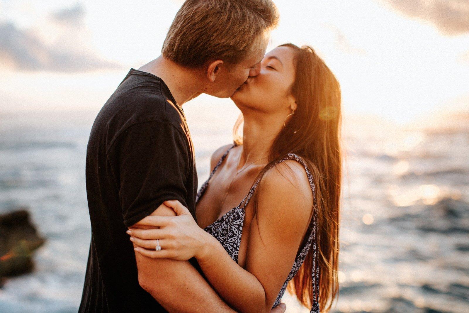 An engagement session on the coast of Kauai