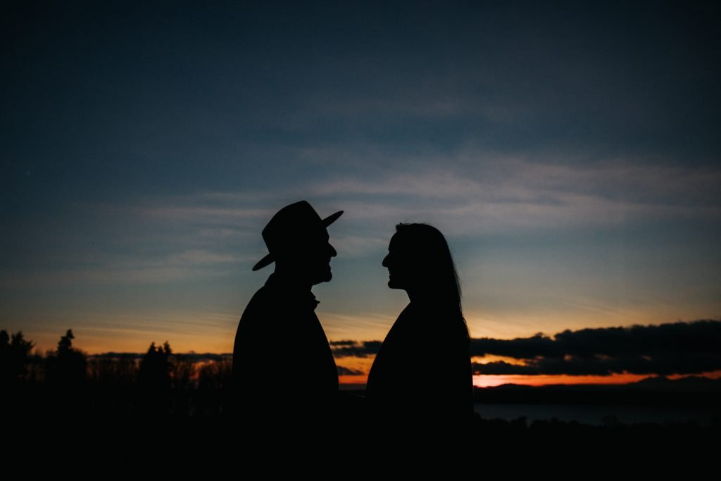Silhouettes at discovery park.