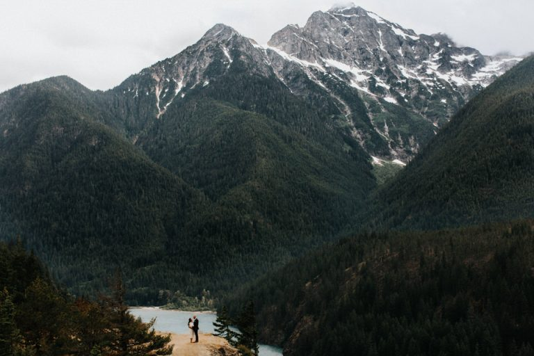 A couple elopes in the north cascades.