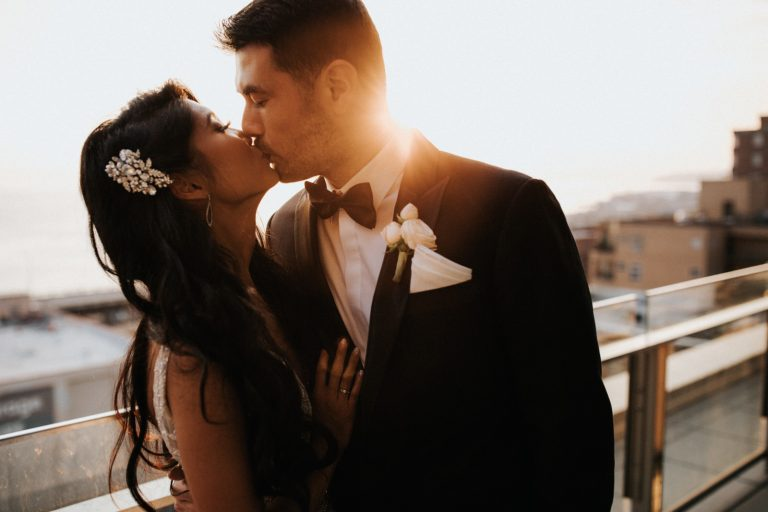 A wedding at the Four Seasons Hotel in downtown Seattle. Photographed by Seattle wedding photographer Wiley Putnam.